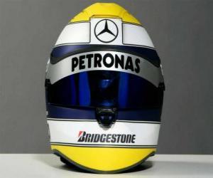 Puzle Capacete de Nico Rosberg 2010