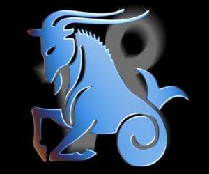 Puzle Capricórnio. A cabra-peixe. Décimo signo do zodíaco. O nome em latim é de Capricornus