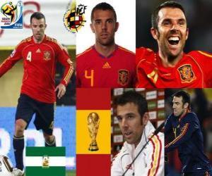 Puzle Carlos Marchena (O invencível), a defesa da equipe espanhola