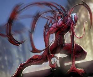 Puzle Carnage ou Carnificina é um supervilão simbiótico, adversário do Homem-Aranha e arquiinimigo de Venom