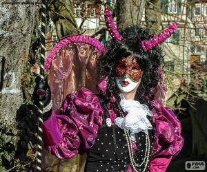 Puzle Carnaval vestido rosa