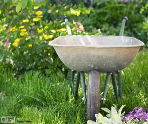 Puzle Carrinho de mão jardineiro