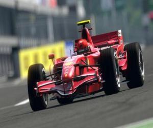 Puzle Carro de corrida de Fórmula 1 ou F1
