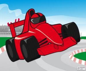 Puzle Carro de corrida F1 vermelho