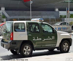Puzle Carro de polícia de Dubai