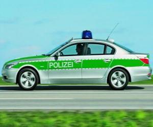 Puzle carro de polícia - BMW E60 -
