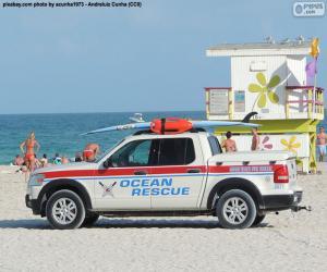 Puzle Carro de resgate de mar de Miami