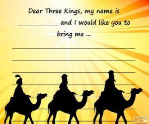 Puzle Carta para os três reis