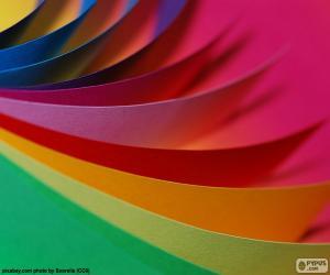 Puzle Cartolinas de cores