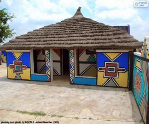 Puzle Casa étnica, África do Sul