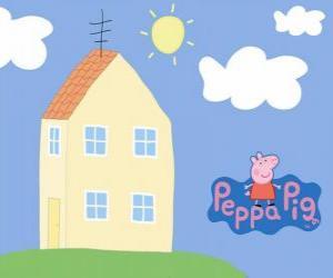 Puzle Casa da família da Peppa Pig, a Porquinha Peppa