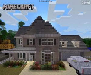 Puzle Casa de Minecraft