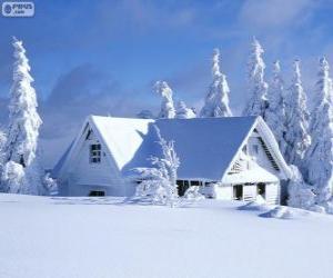 Puzle Casa de neve