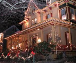 Puzle Casa decorada para o Natal