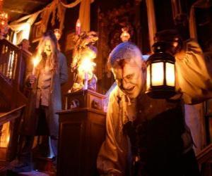 Puzle Casa encantada em Halloween