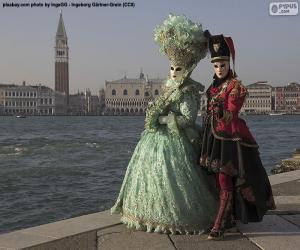 Puzle Casal de Carnaval de Veneza