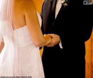 Puzle Casal no casamento deles