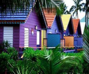 Puzle Casas cores, Bahamas