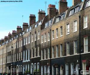 Puzle Casas típicas de Londres