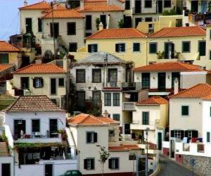 Puzle Casas típicas da vila de Câmara de Lobos - Madeira - (Portugal)