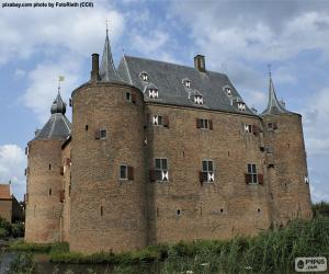 Puzle Castelo de Ammersoyen, Países Baixos