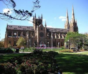 Puzle Catedral de Santa Maria em Sydney, Austrália