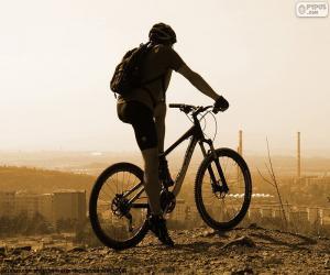 Puzle Cavaleiro da bicicleta de montanha