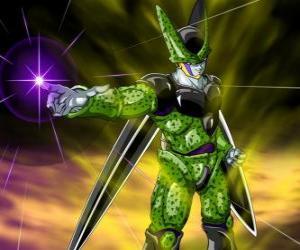 Puzle Cell, a criação definitiva do doutor Gero. Uma forma de vida artificial criada usando células de Goku e outros personagens