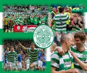Puzle Celtic FC, campeão da Scottish Premier League 2011-2012. Campeonato Escocês de Futebol