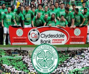 Puzle Celtic FC, campeão do Campeonato Escocês de Futebol 2012-2013