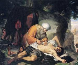Puzle Cena da parábola do Bom Samaritano