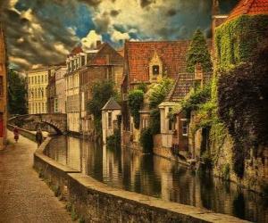 Puzle Centro histórico da cidade de Bruges, Bélgica