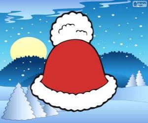 Puzle Chapéu com borla branca de Santa