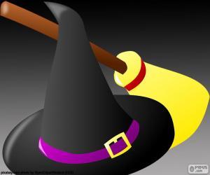Puzle Chapéu e vassoura