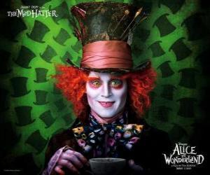 Puzle Chapeleiro Maluco (Johnny Depp), um personagem que ajuda Alice