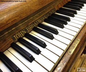 Puzle Chaves de piano clássico