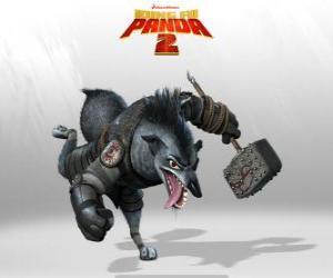 Puzle Chefe Lobo, o mais leal servo Shen, um grande estrategista militar e seu pé direito fiel