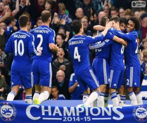 Puzle Chelsea FC campeão 2014-15