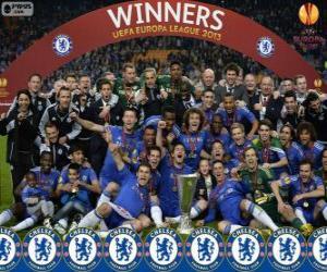 Puzle Chelsea FC, campeão UEFA Europa League 2012-2013