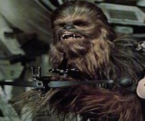 Puzle Chewbacca, o grande e peludo wookiee, apontando com a sua arma