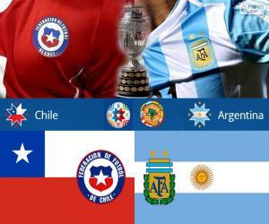 Puzle CHI - ARG, final Copa América 2015