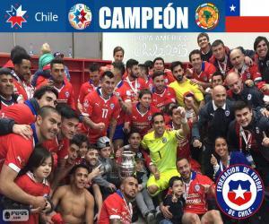 Puzle Chile, campeão Copa América 2015