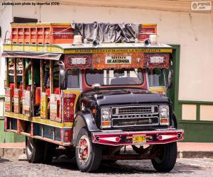 Puzle Chiva, veículo