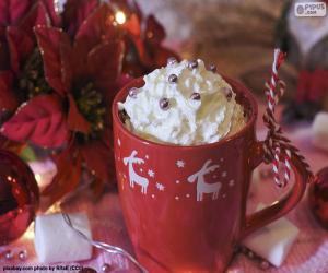 Puzle Chocolate para o copo de Natal