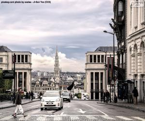 Puzle Cidade de Bruxelas, Bélgica