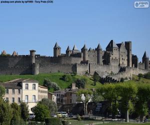 Puzle Cidade fortificada de Carcassonne, França
