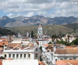 Puzle Cidade histórica de Sucre, Bolívia