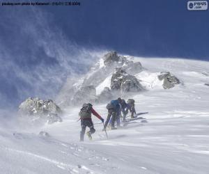 Puzle Cinco alpinistas
