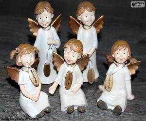 Puzle Cinco anjos de Natal