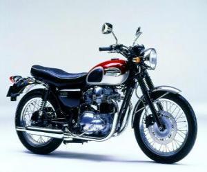 Puzle Clássico moto estrada (Kawasaki W650)